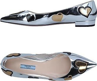 Ballet Flats Ballerina Shoes for Women On Sale in Outlet, Black, Nylon Mesh, 2017, 6.5 Prada