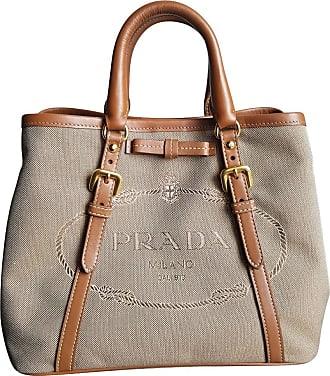 gebraucht - Vitello Daino Lederhandtasche - Damen - Weiß - Leder Prada