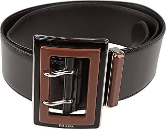 Belt for Women On Sale in Outlet, Black, Suede leather, 2017, EU 80 cm - US/UK 32 in Prada