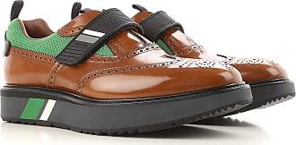 Lace Up Shoes for Men Oxfords, Derbies and Brogues On Sale, Asphalt, Leather, 2017, 8 Prada