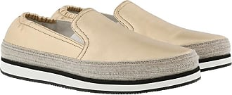 Loafers & Slippers - Drive Logo Loafers Leather Talco - beige - Loafers & Slippers for ladies Prada
