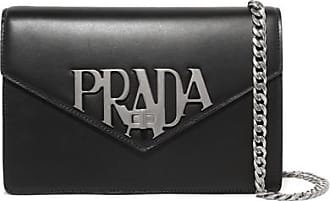 Womens Pouch On Sale, Azure, Leather, 2017, Universal Size Prada