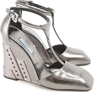 Womens Shoes On Sale, Silver, Leather, 2017, 6.5 7.5 8 Prada