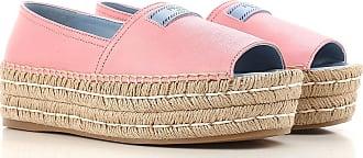 Zapatillas Slip On para Mujer Baratos en Rebajas, Begonia, Piel, 2017, 37.5 38 38.5 39 39.5 40 Prada