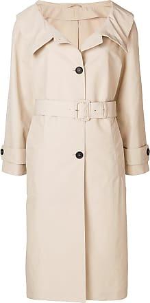 fur-cuff coat - Nude & Neutrals Prada