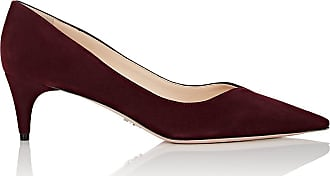 Womens Vd-Throat Suede Pumps Prada