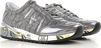 Sneakers for Women On Sale, Dark Silver, Leather, 2017, 3.5 4.5 5.5 7.5 Premiata