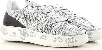 Sneakers for Women On Sale in Outlet, Silver, Leather, 2017, 3.5 5.5 Premiata