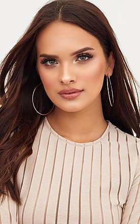 Dannie Rose Gold Hoop Earrings Pretty Little Thing