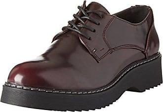 Jana 23704, Zapatos de Cordones Oxford para Mujer, Negro (Blk Met.Pat.), 37 EU