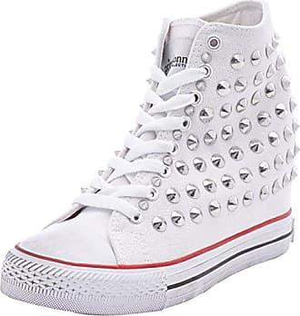 Sneakers, Zapatillas Altas para Mujer, Plateado (ARGE 112618510GLARGE), 37 EU Prima Donna