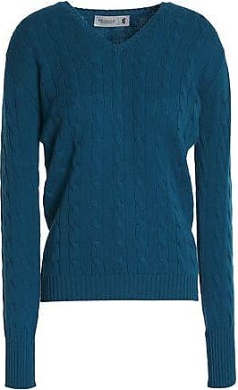 Pringle Of Scotland Woman Metallic Knitted Sweater Midnight Blue Size M Pringle Of Scotland