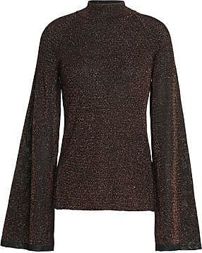 Pringle Of Scotland Woman Metallic Knitted Sweater Bronze Size S Pringle Of Scotland