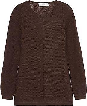 Pringle Of Scotland Woman Mohair And Silk-blend Sweater Dark Brown Size S Pringle Of Scotland