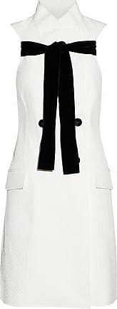 Proenza Schouler Woman Fluted Cotton-blend Poplin Mini Dress White Size 2 Proenza Schouler
