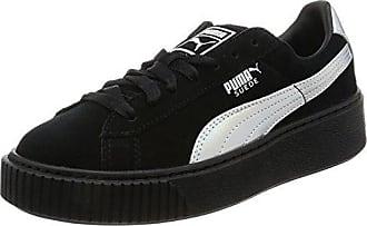 Puma Damen Vikky Platform Lthr P Sneaker, Schwarz (Black-Metallic Gold), 41.5 EU