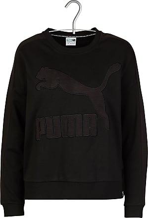 Kurzes Baumwoll-Sweatshirt mit Rundhalsausschnitt und Stickerei Puma