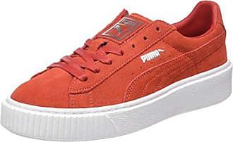 Puma Suede Platform, Sneakers Basses Femme, Rouge (Barbados Cherry-Barbados Cherry White), 37.5 EU