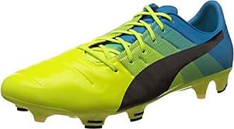 Puma EvoPower 3.3 FG Jr, Unisex-Kinder Fußballschuhe, Gelb (Safety Yellow-Black-Atomic Blue 01), 35 EU (2.5 Kinder UK)