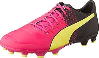 Puma Evopower 1 3 FG, Chaussures de Football Homme - Rose (Pink Glo/Safety Yellow/Black), 44.5 EU (10 UK)