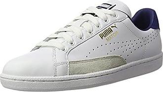 Match 74 - Chaussures Dentrainement - Mixte Adulte - Blanc (White/White/Gold 10) - 45 EU (10.5 UK)Puma