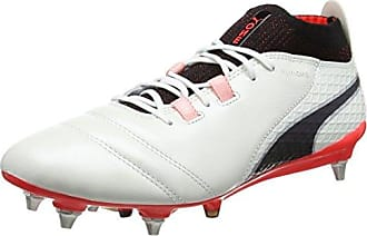Puma One 17.4 IT, Chaussures de Football Homme, Blanc (White-Black-Fiery Coral), 42 EU