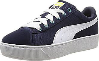 Smash Nubuck - Sneakers Basses - Mixte Adulte - Bleu (Peacoat/White 01) - 40.5 EU (7 UK)Puma