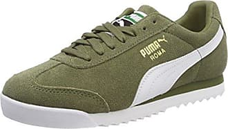 Puma Roma Suede, Zapatillas Unisex Adulto, Azul (Peacoat-Puma White-Puma Team Gold-Amazon Green), 37 EU