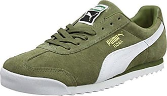 Puma Roma Natural Warmth, Zapatillas Unisex Adulto, Verde (Olive Night-Whisper White), 48.5 EU