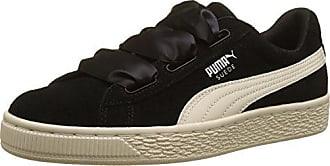 Puma Suede Heart Jewel Inf, Zapatillas para Niñas, Negro (Puma Black-Whisper White), 20 EU