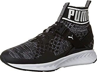 Puma Ignite Evoknit Jr, Sneakers Basses Mixte Enfant, Noir Black-Quiet Shade 01, 38 EU