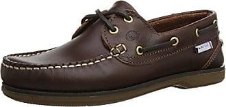 QMELWAXXXX42 - Zapatos de cordones de cuero para mujer, color marrón, talla 42 Quayside