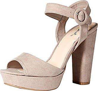 Qupid Womens Alisha01 Heeled Sandal Nude Size 60