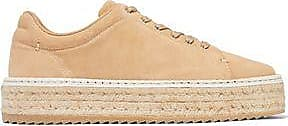 Rag & Bone Woman Standard Issue Embroidered Suede Sneakers Sand Size 36.5 Rag & Bone