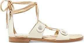 Rag & Bone Woman Leather Platform Sandals Ivory Size 38.5 Rag & Bone