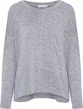 Rag & Bone Woman Open Knit-trimmed Ribbed-knit Top Sky Blue Size XXS Rag & Bone
