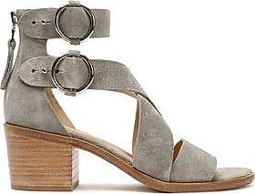 RAG&BONE Woman Madison Cutout Suede Sandals Brick Size 41
