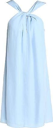 Rag & Bone Woman Twist-front Twill Dress Azure Size XS Rag & Bone