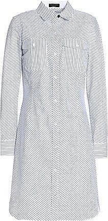 Rag & Bone Woman Open Knit-trimmed Cotton-poplin And Piqué Shirt Dress White Size XS Rag & Bone