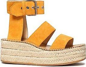Rag & Bone Woman Suede Platform Espadrille Sandals Mustard Size 38 Rag & Bone