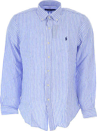 Shirt for Men On Sale, Sky Blue, linen, 2017, XXL - IT 54 L - IT 50 XL - IT 52 Ralph Lauren