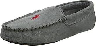 Mens Dezi II, Zapatillas de Estar por Casa para Hombre, Gris (Grey Microsuede W/Burgundy PP 000), 42 EU Polo Ralph Lauren
