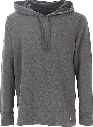 Sweatshirt for Men On Sale, Melange Grey, Cotton, 2017, L M XL Ralph Lauren