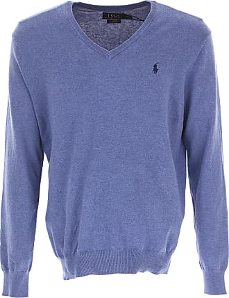 Sweater for Women Jumper On Sale, Avio Blue, Cotton, 2017, 8 Ralph Lauren