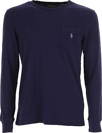 Camiseta de Hombre Baratos en Rebajas, Marina, Algodon, 2017, L M S XL XXL Ralph Lauren