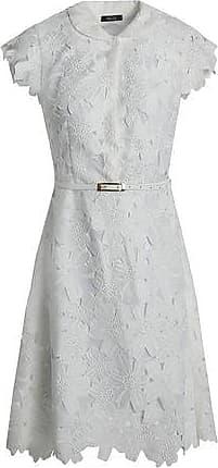 Raoul Woman Belted Cotton-blend Guipure Lace Shirt Dress White Size XL Raoul
