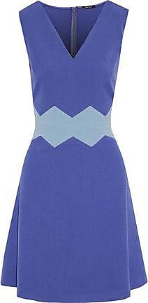 Raoul Woman Silk-blend Duchesse-satin Mini Dress Midnight Blue Size 32 Raoul