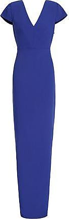 Raoul Woman Gathered Bow-embellished Crepe Gown Brick Size 32 Raoul