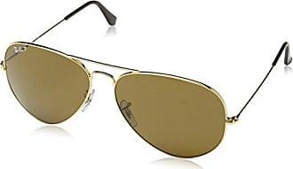 Mens Aviator Large Metal Aviator Sunglasses, Gold (gold 001/33, Gl?ser: Crystal Brown) Ray-Ban