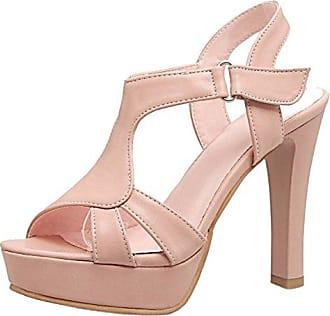 TAOFFEN Damen High Heels Sandalen Party Schuhe  34 EUPink